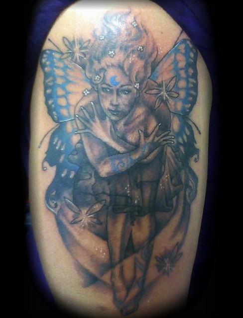 Sexy fairy tattoo by Jackie Rabbit
