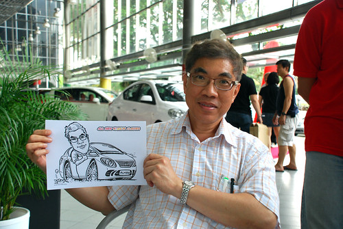 Caricature live sketching for Tan Chong Nissan Almera Soft Launch - Day 1 - 8