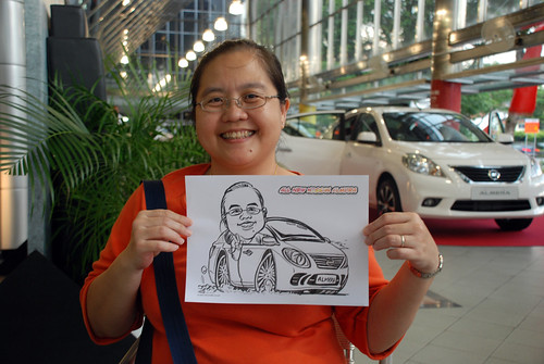 Caricature live sketching for Tan Chong Nissan Almera Soft Launch - Day 1 - 51
