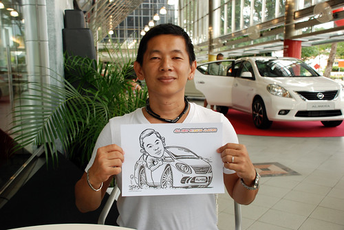 Caricature live sketching for Tan Chong Nissan Almera Soft Launch - Day 2 - 38