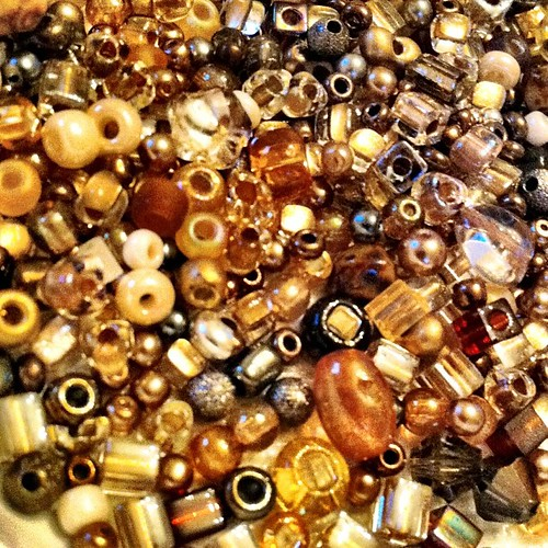 Working (playing) (crocheting) with these beads - I love my job :)