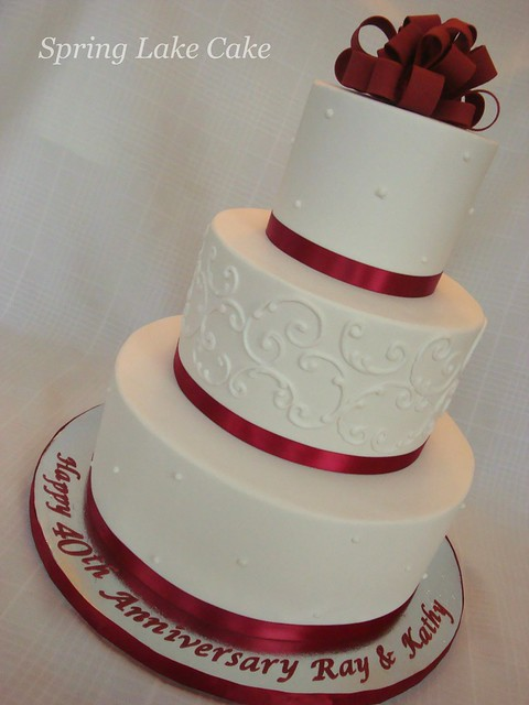 Cake Decorating Ideas For Ruby Wedding : 40th Anniversary Cake Flickr - Photo Sharing!