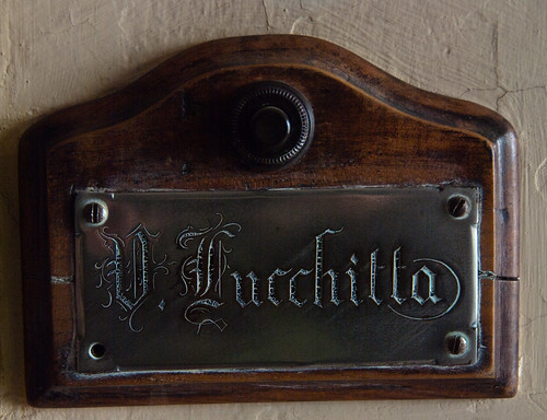 Uncle Virgilio's nameplate.