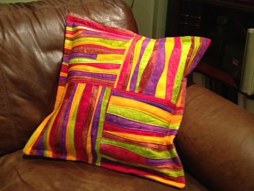 Finished pillow, false flange, bad lighting