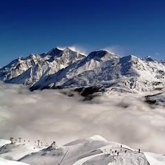 [フリー画像素材] 自然風景, 山, 雪山, 風景 - スイス, アルプス山脈 ID:201201181600