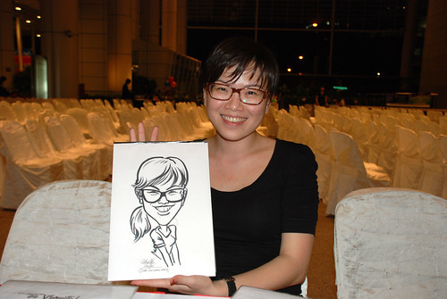 caricature live sketching for kidsREAD Volunteer Appreciation Day 2011 - 25