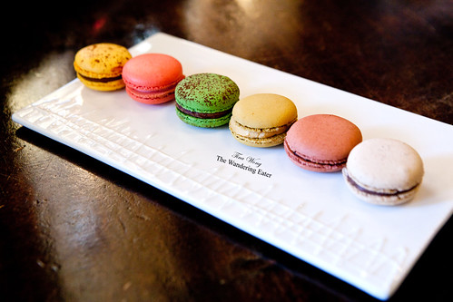 Plate full of French macarons - in Chicago