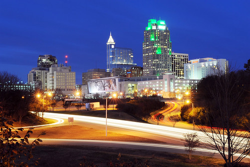 Downtown Raleigh at night - January 2012