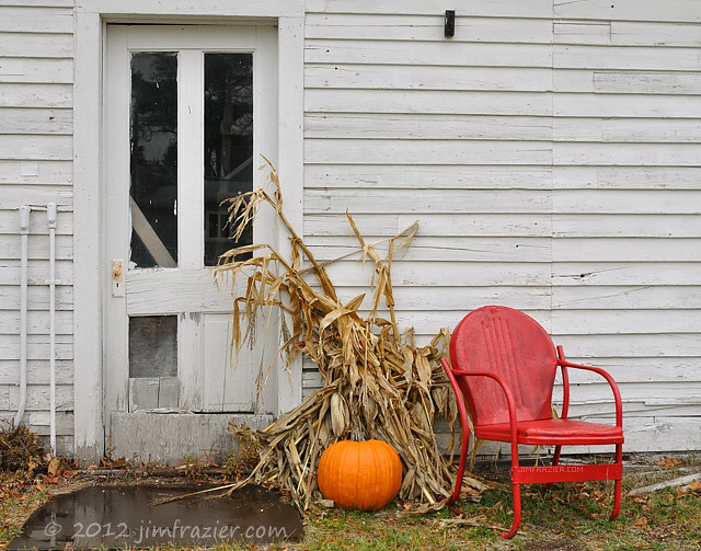 Red Chair Fall Tableau