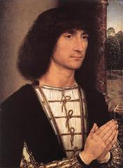 Hans Memling (1485), Hombre joven orando