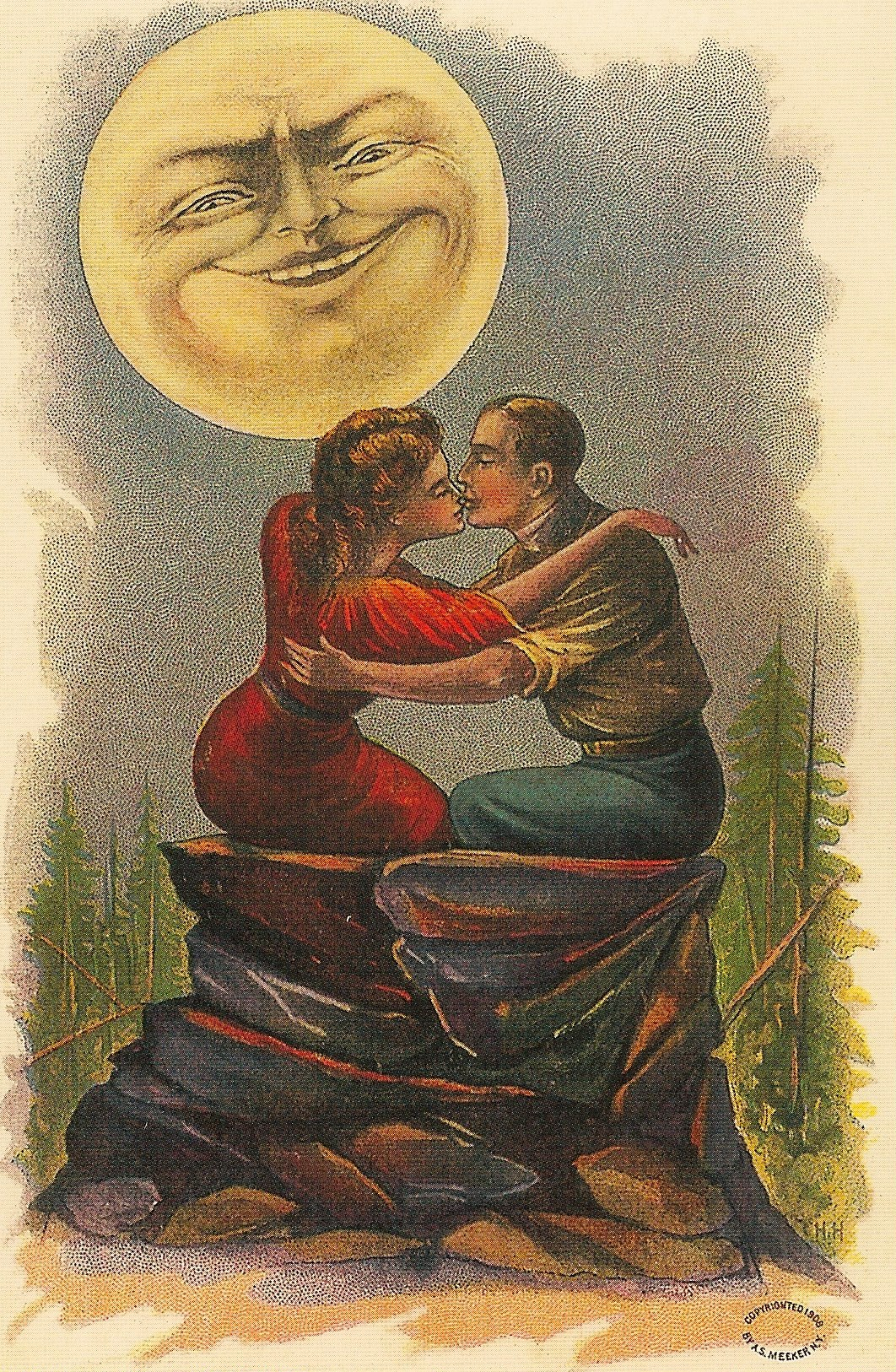 Bella Luna Valentine Postcard