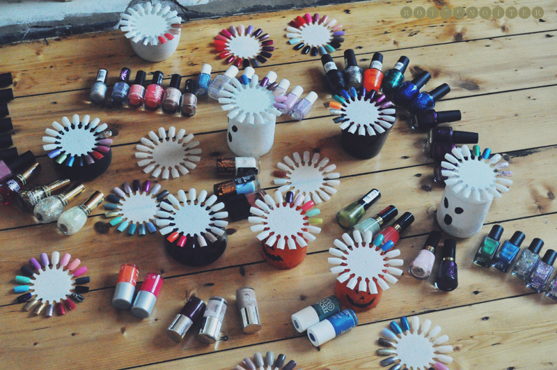 organising nail polish wheel