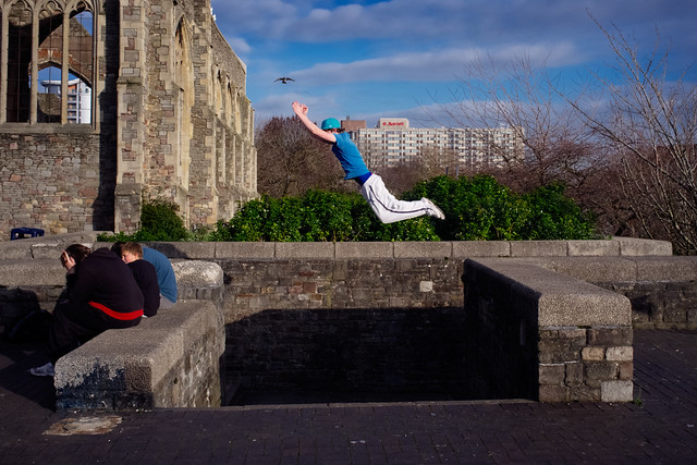 Photograph: [Untitled]; Castle Park, Bristol, January 2012. By Simon Holliday.