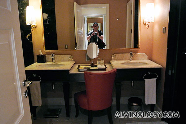The gorgeous bathroom which I didn't mess up