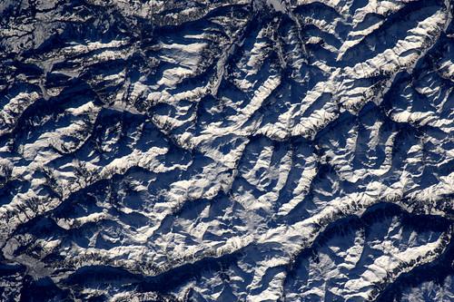 Ziet er verleidelijk uit die Alpen, maar heb mijn ski's niet bij me...