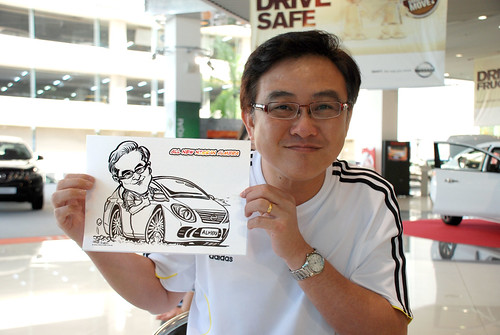 Caricature live sketching for Tan Chong Nissan Motor Almera Soft Launch - Day 4 - 15