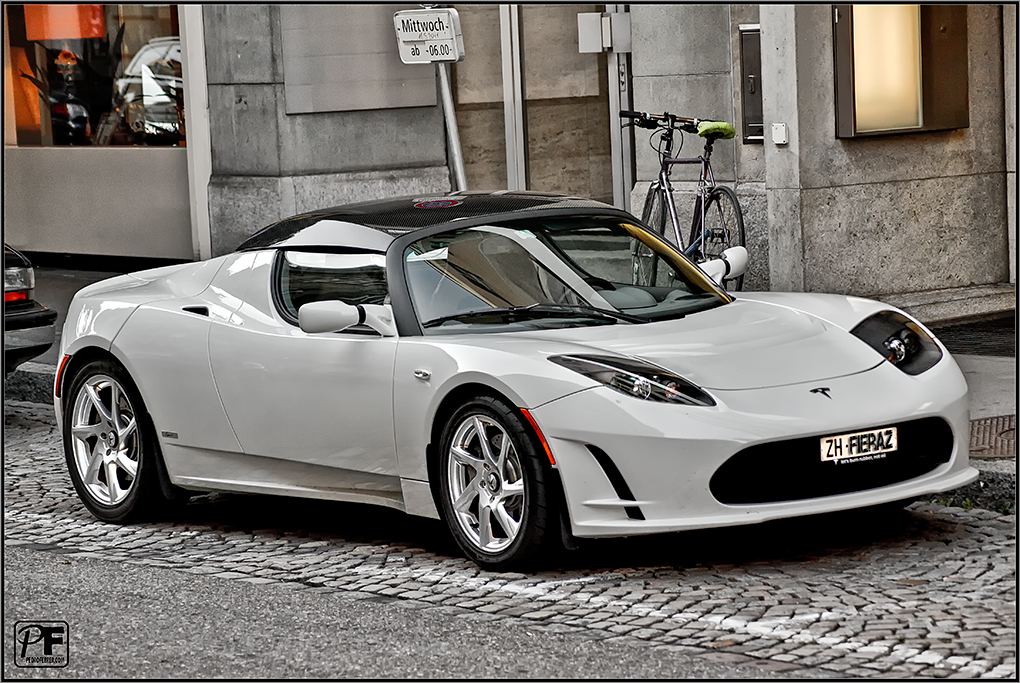 Suiza - Supercoches - Tesla Roadster - Zurich