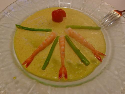 開胃菜-鮮蝦蘆筍@西堤牛排