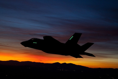 Lockheed Martin F-35A Performs First Night Flight