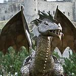 DRAGON LOOKS LIKE GUARDIAN of HARLECH CASTLE