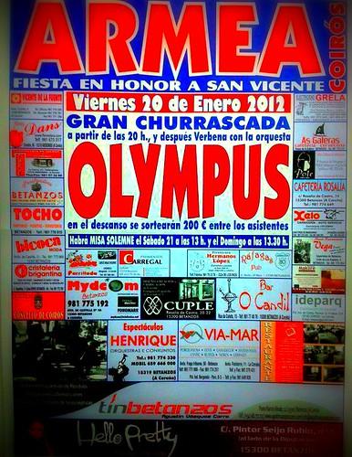 Coirós 2012 - Festas de San Vicente en Armea - cartel