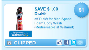 Dial For Men Speed Foam Body Wash (redeemable At Walmart) Coupon