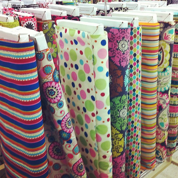 I made the family take a little roadtrip after school. First on the agenda, stalk fabric!