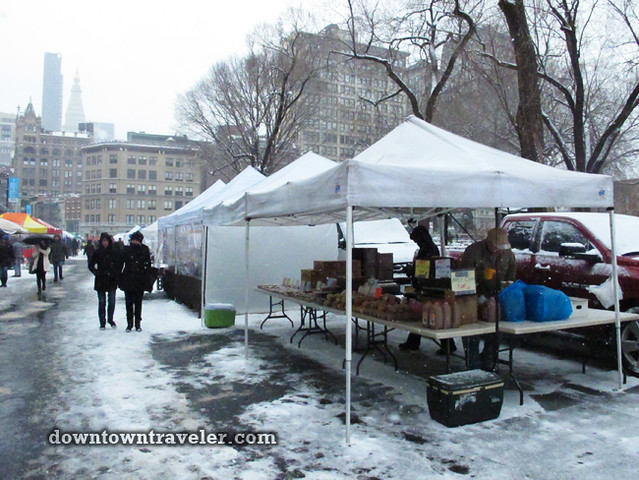 NYC Snowstorm January 2012 Union Square Greenmarket 5