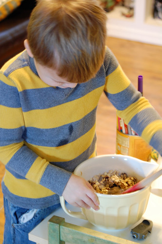 Young Child Cooking Photo