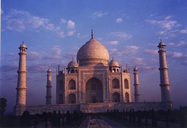 Taj Mahal at dawn, 6:45 am