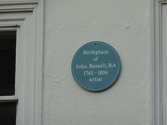 Photo of John Russell blue plaque