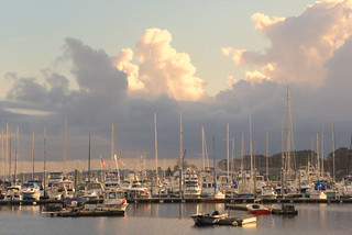 afternoon light at cove haven marina, barrington, rhode island