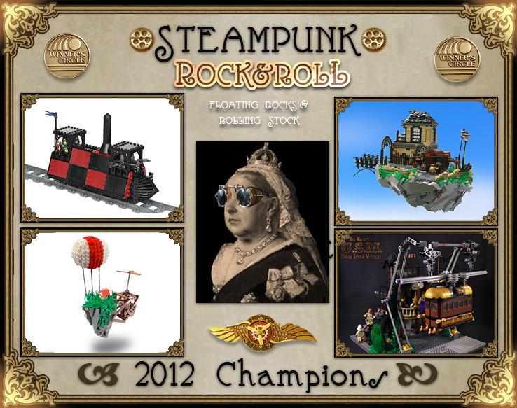 Steampunk LEGO Rock & Roll Contest Champions!