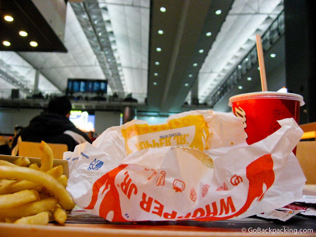 Burger King in the Hong Kong airport