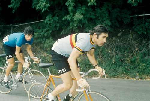 Merckx at the bottom of the course before climbing Mt. Royal by philcycles