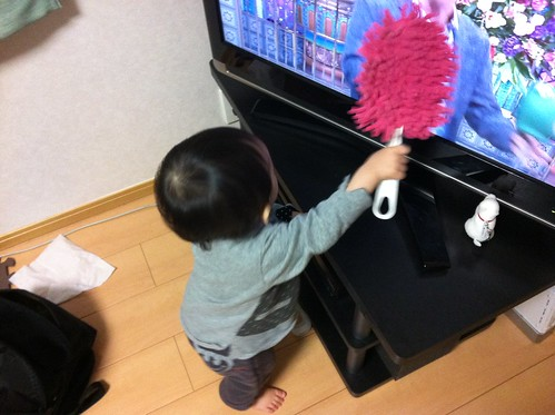 テレビ掃除