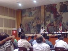 Dr. Alfredo Villavicencio expone sobre LGT ante delegados de la CGTP by carlos mejia a.