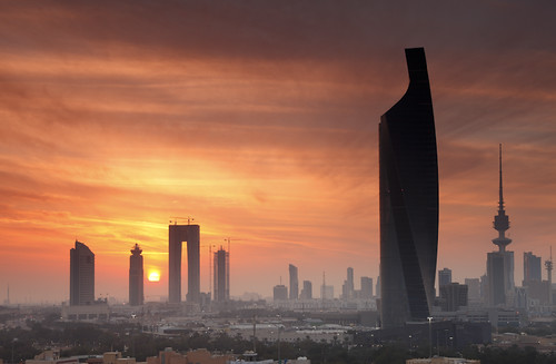 Kuwait - Misty Sunset