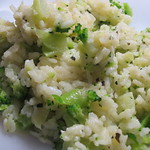 Microwave Risotto w/ Broccoli (vegan)