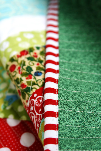 christmas quilt binding