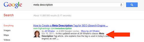 What is meta description