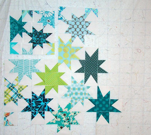 FLiQS mini wonky stars progress