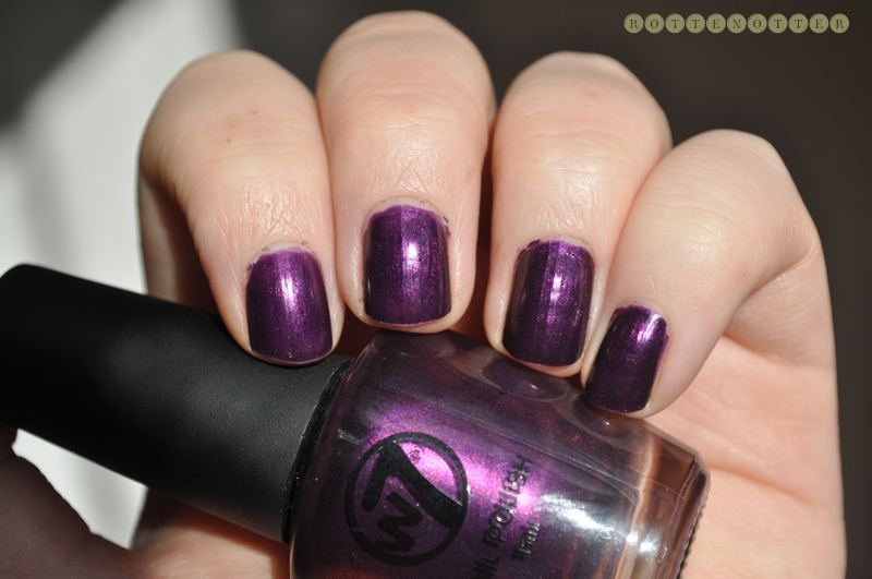 w7 purple paradise notd nail polish