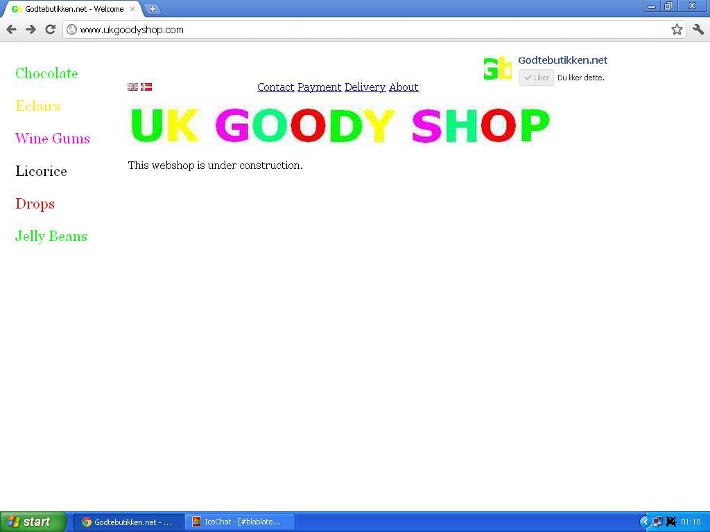 begynt å jobbe på engelskspråklig nettbutikk