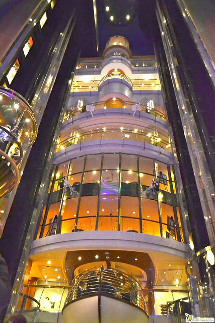 Elevator And Inside The Ship Shopping District Liberty Of Seas Royal Caribbean