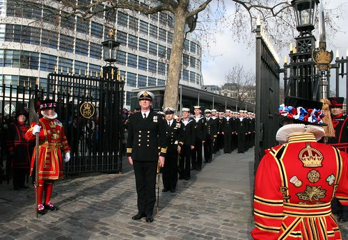 HMS Liverpool allowed into the Tower Grounds