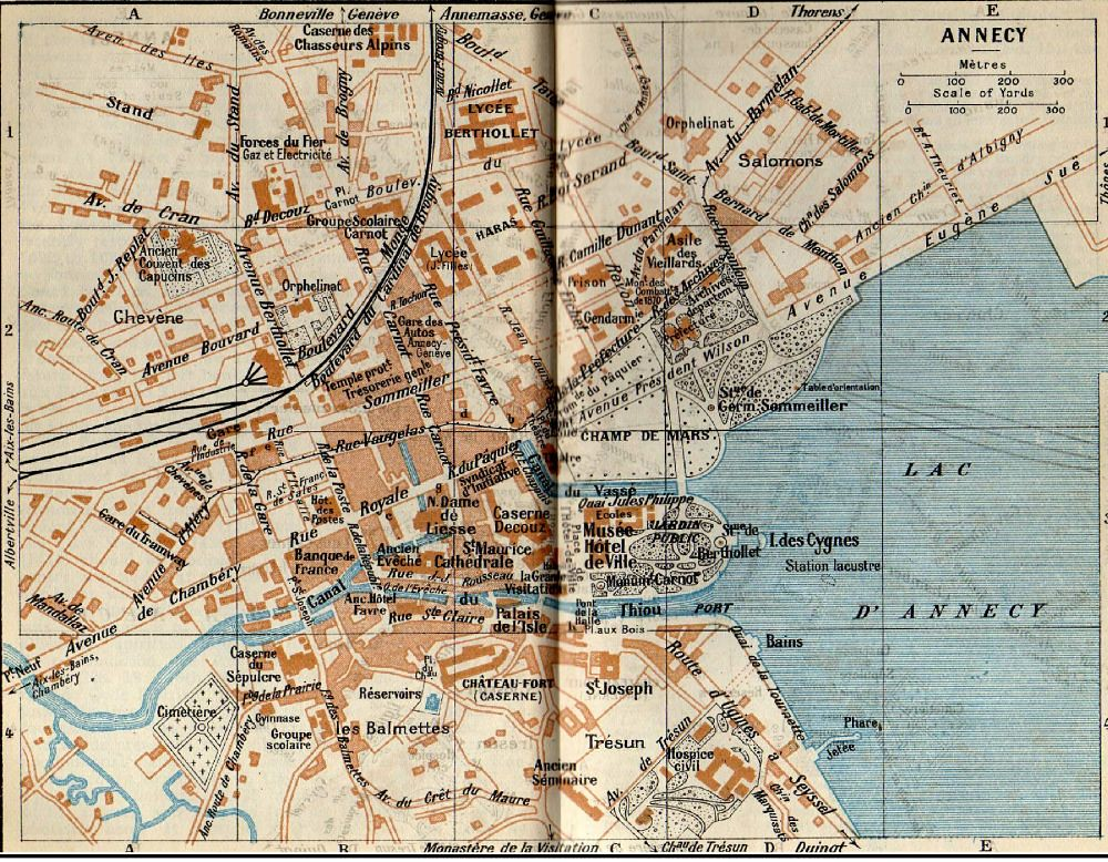 ANNECY MAP 1926