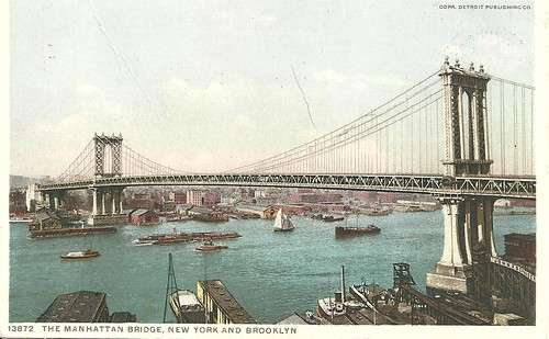 NYC Postcard (Manhattan Bridge - Front)