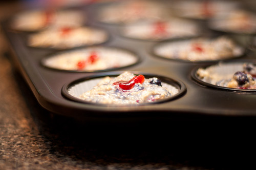 triple berry muffin batter