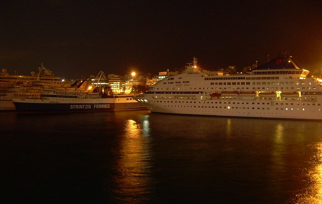 Pireas is a huge passenger port by bryandkeith on flickr